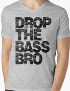 DROP THE BASS BRO Mens V-Neck T-Shirt