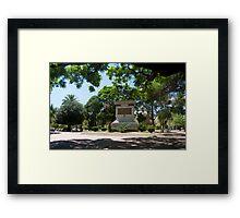SAN LUIS PLAZA Framed Print