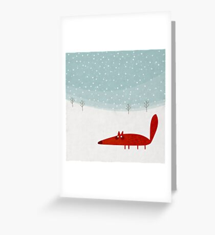 Fox in the snow Greeting Card