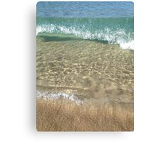 Winter is great beach weather Canvas Print