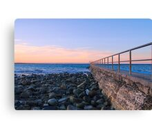 Forster Main Beach in Winter Canvas Print