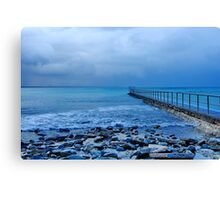 Forster Main Beach - Winter Storm Canvas Print