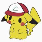 Pikachu with Ash's Hat by Cyndy Ejanda