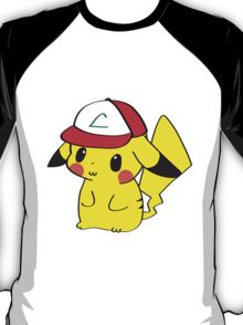 Pikachu with Ash's Hat T-Shirt
