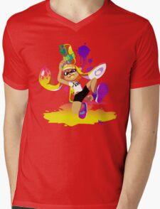 Splatoon Inkling (Yellow) Mens V-Neck T-Shirt