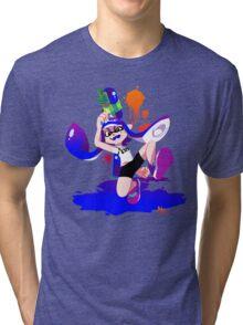 Splatoon Inkling (Blue) Tri-blend T-Shirt