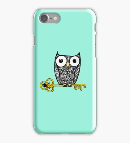 iPhone owl and key iPhone Case/Skin