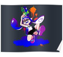 Splatoon Inkling (Blue) Poster