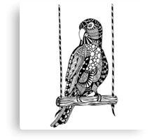Parrot Boho Illustration Canvas Print