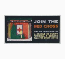 Join the Red Cross and on Christmas eve a candle in every window a service flag for every home One Piece - Short Sleeve