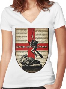 George and the Dragon (Quidditch Revised) Women's Fitted V-Neck T-Shirt