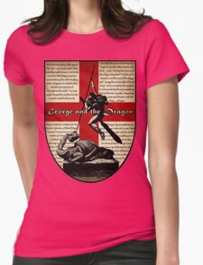 George and the Dragon (Quidditch Revised) Womens Fitted T-Shirt
