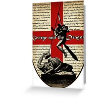 George and the Dragon (Quidditch Revised) Greeting Card