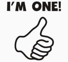 I'm One Thumbs Up Kids Tee