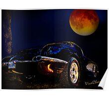 59 Corvette Moon Poster