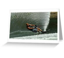 Water Skiing Magic of Water 1 Greeting Card