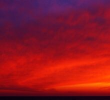 Red Vortex Cloud by Kathilee