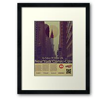 New York Comic-Con 2012 Poster Framed Print