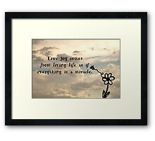 Miraculous Life Framed Print