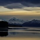 Lake Pukaki at Dusk by Linda Cutche