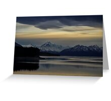 Lake Pukaki at Dusk Greeting Card