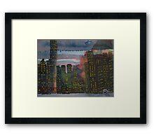 Corporate Sunset Framed Print