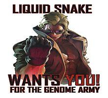Liquid Snake wants YOU! Photographic Print