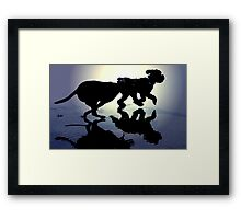 DOGS AT PLAY~ Framed Print