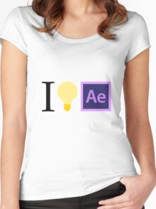 I think in Ae Women's Fitted Scoop T-Shirt