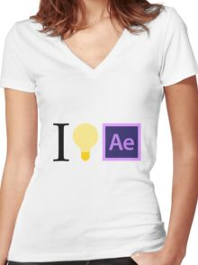 I think in Ae Women's Fitted V-Neck T-Shirt