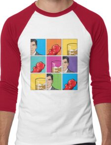 scotch & gummy bears tiles Men's Baseball ¾ T-Shirt