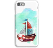 Ship in the Watercolor iPhone Case/Skin