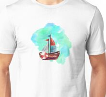 Ship in the Watercolor Unisex T-Shirt