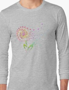 Flower in the wind Long Sleeve T-Shirt
