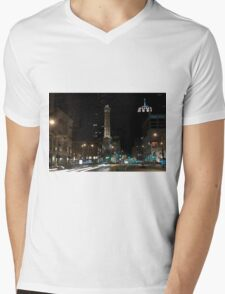 Chicago Water Tower Mens V-Neck T-Shirt