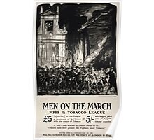 Men on the March Pipes Tobacco League 566 Poster
