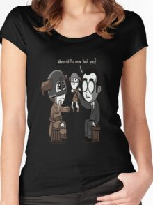 That Poor Traumatized Dovahkiin... Women's Fitted Scoop T-Shirt