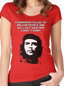Che Guevara - Communism killed 100 million people Women's Fitted Scoop T-Shirt