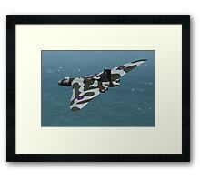 Eastbourne Airshow and the Vulcan Bomber. Framed Print