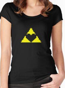 Triforce Heart Women's Fitted Scoop T-Shirt
