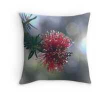 Blossoming in the Rain Throw Pillow