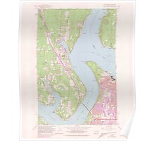 USGS Topo Map Washington State WA Gig Harbor 241270 1959 24000 Poster