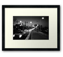 Manhattan from Brooklyn Bridge 1980s Framed Print