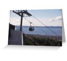 Gondola Ride in Rotorua, New Zealand Greeting Card