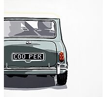 Classic Mini Cooper rear view. Photographic Print