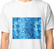 Blue Tones Disco Glitter Print Classic T-Shirt
