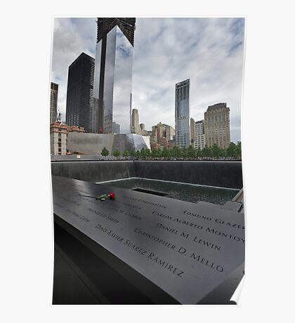 Rose at 911 Memorial Pool Poster