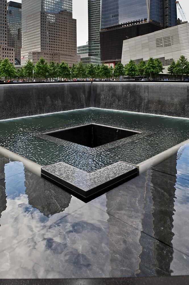 Ground Zero memorial pool by Gary Eason