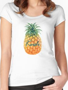 pineapple kush Women's Fitted Scoop T-Shirt
