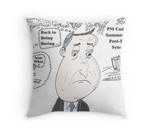 PM David Cameron has the Summertime Blues Throw Pillow